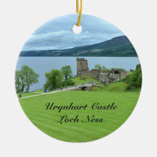 Urquhart Castle Loch Ness Scotland Landscape Photo Christmas Ornament