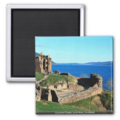 Urquhart Castle, Loch Ness, Scotland Square Magnet
