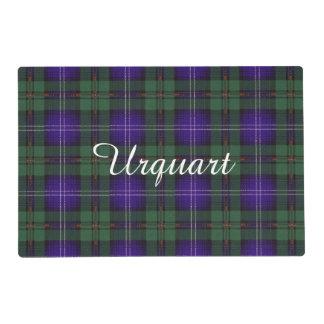 Urquhart clan Plaid Scottish tartan Laminated Placemat