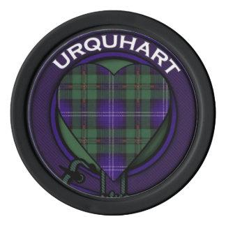 Urquhart clan Plaid Scottish tartan Poker Chips