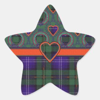 Urquhart clan Plaid Scottish tartan Star Stickers