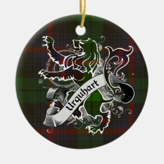 Urquhart Tartan Lion Christmas Ornament