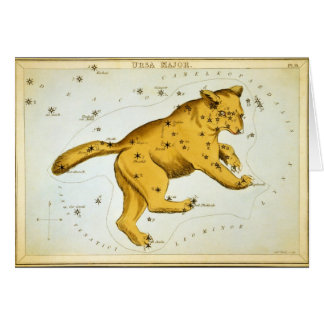 Ursa Major Astronomical Chart by Sidney Hall Greeting Card