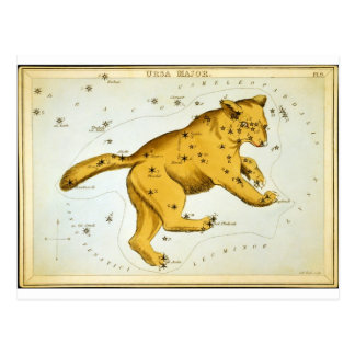 Ursa Major Astronomical Chart by Sidney Hall Postcard