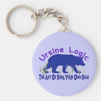 Ursine Logic Swag Logo Basic Round Button Key Ring