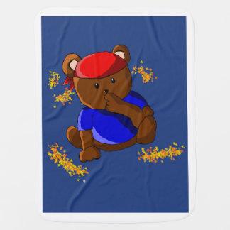 ursinho pirate baby blankets