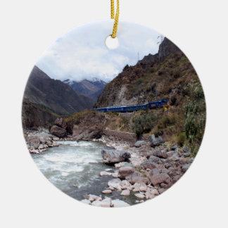 Urubamba River Valley Train Cusco Peru Ornaments