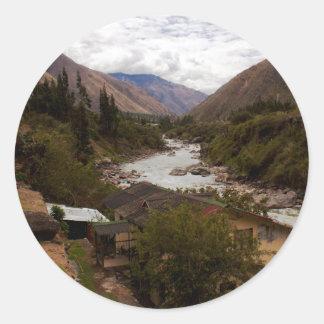 Urubamba Sacred River Valley Cusco Peru Classic Round Sticker