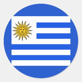 Uruguay Classic Round Sticker