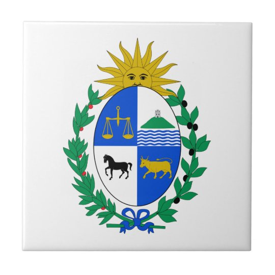 Uruguay Coat of Arms Small Square Tile