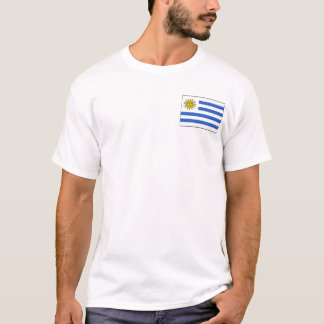 Uruguay Flag and Map T-Shirt