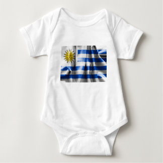 Uruguay Flag Baby Jersey Bodysuit