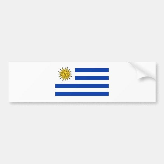 Uruguay flag bumper sticker