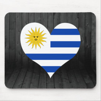 Uruguay flag colored mouse pad
