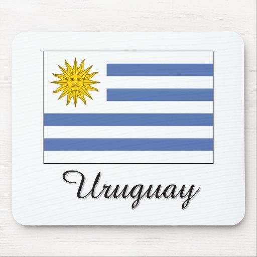 Uruguay Flag Design Mouse Pad