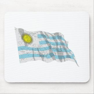 Uruguay Flag (Distressed) Mouse Pad