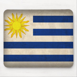 Uruguay Flag Distressed Mousepad