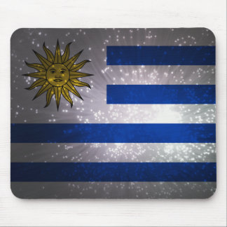 Uruguay Flag Firework Mouse Pad