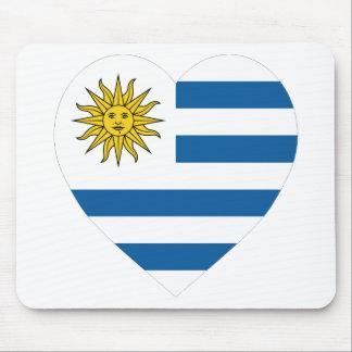 Uruguay Flag Heart Mouse Mat