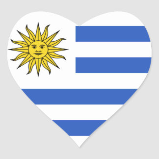 Uruguay Flag Heart Sticker