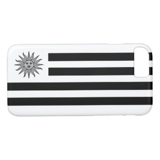 Uruguay Flag In Black And White iPhone 8/7 Case
