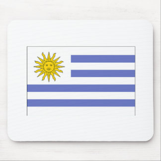 Uruguay Flag Mouse Pads