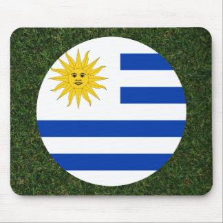 Uruguay Flag on Grass Mouse Pad
