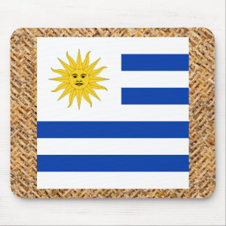 Uruguay Flag on Textile themed Mouse Pad