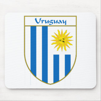 Uruguay Flag Shield Mouse Pad