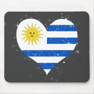 Uruguay Flag Shining Unique Mouse Pad