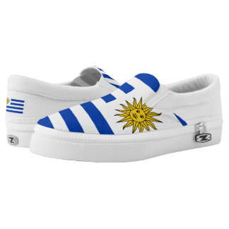 Uruguay Flag Slip On Shoes