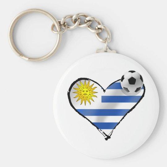 Uruguay flag soccer futbol te amo gifts basic round button key ring
