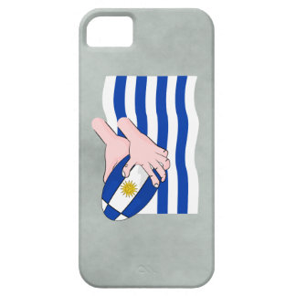 Uruguay Flag With Cartoon Rugby Ball iPhone 5 Cases