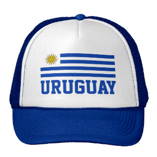 Uruguay Flag With Customizable Blue Text Cap