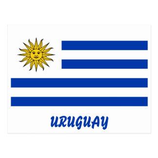 Uruguay Flag With Customizable Blue Text Postcard