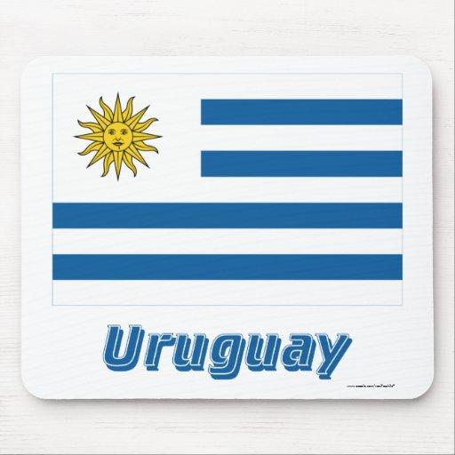 Uruguay Flag with Name Mousepad