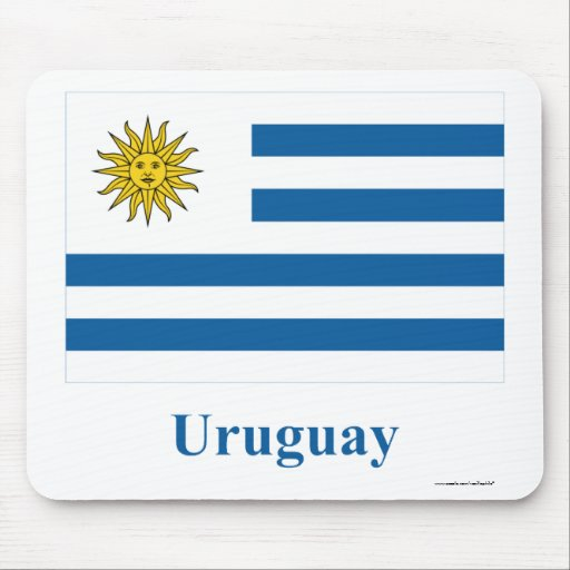 Uruguay Flag with Name Mouse Pad