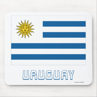Uruguay Flag with Name Mouse Pads