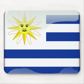 Uruguay glossy flag mouse pad