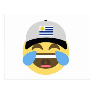 Uruguay Hat Laughing Emoji Postcard