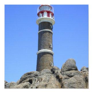 Uruguay Lighthouse 13 Cm X 13 Cm Square Invitation Card