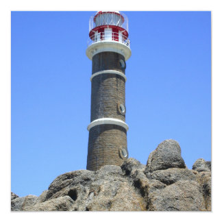 Uruguay Lighthouse 5.25x5.25 Square Paper Invitation Card