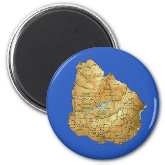 Uruguay Map Magnet