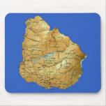 Uruguay Map Mousepad