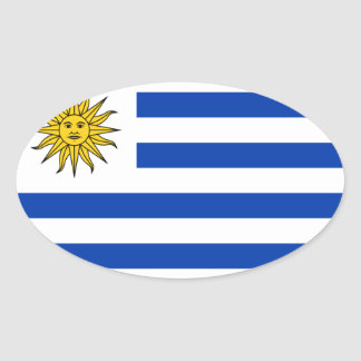 Uruguay National Flag Oval Sticker
