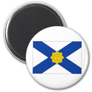 Uruguay Naval Jack 6 Cm Round Magnet