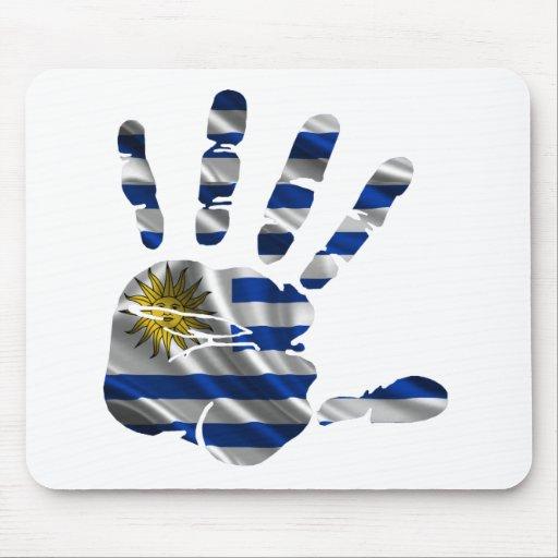 URUGUAY NICE HAND FLAG PRODUCTS MOUSEPAD