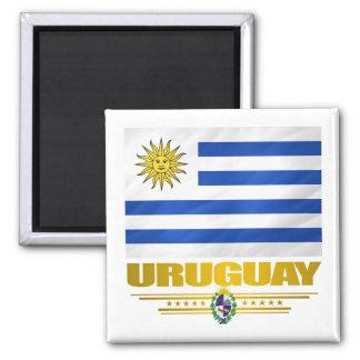 """""""Uruguay Pride"""" Square Magnet"""