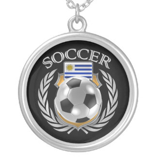 Uruguay Soccer 2016 Fan Gear Silver Plated Necklace