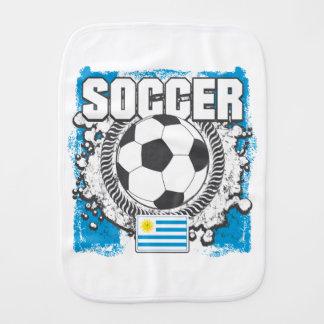 Uruguay Soccer Baby Burp Cloths